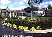 Active Aging Senior Citizens, Retired, Activities, Exterior Retirement Community, Flower Garden