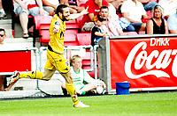 Fotball , <br /> Tippeligaen , <br /> 28.06.09 , <br /> Fredrikstad stadion , <br /> Fredrikstad FFK - Bodø Glimt , <br /> Mounir Hamoud jubler for 1-0 til Glimt , <br /> Foto: Thomas Andersen / Digitalsport