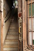 Door and steps into building, Havana, Cuba