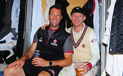 Chris Rogers of Somerset , who retired today poses for photo with Marcus Trescothick.   - Mandatory by-line: Alex Davidson/JMP - 22/09/2016 - CRICKET - Cooper Associates County Ground - Taunton, United Kingdom - Somerset v Nottinghamshire - Specsavers County Championship Division One
