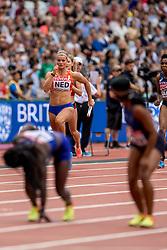 12-08-2017 IAAF World Championships Athletics day 9, London<br /> 4 x 100 meter relay met Dafne Schippers NED. Nederland kwam op de atletiekbaan van het Olympic Stadium tot een tijd van 42,64 seconden en plaatste zich voor de finale
