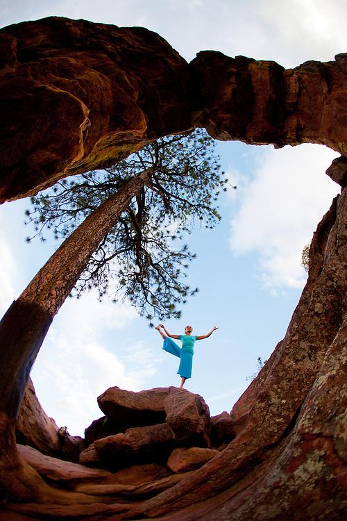 Olivia Hsu at the Royal Arch, Boulder, COLORADO