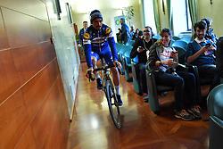 March 9, 2019 - Siena, Italia - Foto Gian Mattia D'Alberto / LaPresse.09-03-2019 Siena, Italia.SportCiclismo.Gara ciclistica Strade Bianche 2019 .nella foto: il vincitore Julian ALAPHILIPPE (Fra, Deceuninck-QuickStep) in conferenza stampa..Foto Gian Mattia D'Alberto  / lapresse.2019-03-09 Siena, ItalySportCycling.Strade Bianche 2019 .in the photo: the winner Julian ALAPHILIPPE (Fra, Deceuninck-QuickStep), at the press conference (Credit Image: © Gian Mattia D'Alberto/Lapresse via ZUMA Press)