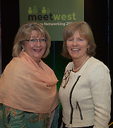 20/11/2014  repro free  Ann Melia Head of Procurement & Contracts at NUI Galway and Dr. Emer Mulligan, Head of J.E Cairnes School of Business & Economics, NUI Galway at the Galway Bay Hotel for the two conference Meet West attracting over 400 business people from around Ireland for the largest networking event in the Country . Photo:Andrew Downes