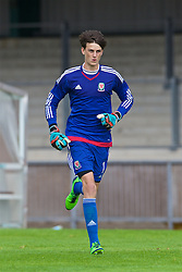 NEWPORT, WALES - Wednesday, August 3, 2016: Regional Development Boys' goalkeeper Cian Tyler during the Welsh Football Trust Cymru Cup 2016 at Newport Stadium. (Pic by Ian Cook/Propaganda)