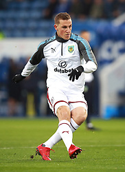 """Burnley's Chris Wood warming up before the Premier League match at the King Power Stadium, Leicester. PRESS ASSOCIATION Photo Picture date: Saturday December 2, 2017. See PA story SOCCER Leicester. Photo credit should read: Mike Egerton/PA Wire. RESTRICTIONS: EDITORIAL USE ONLY No use with unauthorised audio, video, data, fixture lists, club/league logos or """"live"""" services. Online in-match use limited to 75 images, no video emulation. No use in betting, games or single club/league/player publications."""