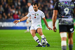 Clermont Auvergne's Morgan Parra kicks a penalty - Mandatory by-line: Craig Thomas/JMP - 15/10/2017 - RUGBY - Liberty Stadium - Swansea, Wales - Ospreys Rugby v Clermont Auvergne - European Rugby Champions Cup