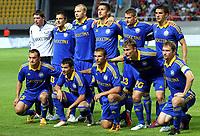 BILDET INNGÅR IKKE I FASTAVTALENE MEN MÅ KJØPES SEPARAT<br /> <br /> Fotball<br /> Foto: imago/Digitalsport<br /> NORWAY ONLY<br /> <br /> 25.07.2012<br /> Skopje (Former Yugoslav Republic Macedonia) FK Vardar-FK Bate Borisov UEFA Champions League qualifying 2nd leg <br /> <br /> FK Bate Borisov team from left to right up: Andrey Harbunow(Andrei Garbunov), Dzmitry Mazalwski, Maksim Bardachou, Yawhen Kunstevich, Edhar Alyakhnovich and Marko Simic Down: Alyaksandar Yurevich, Alyaksandr Valadzko, Artem Konsevoy, Vitali Rodionov and Dzmitry Likhtarovich<br /> Lagbilde