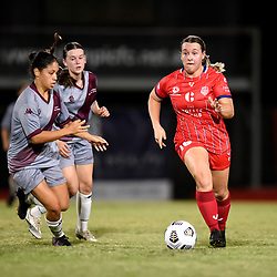 BRISBANE, AUSTRALIA - APRIL 28:  during the NPL Queensland Senior Women's Round 4 match between Olympic FC and QAS on April 28, 2021 in Brisbane, Australia. (Photo by Patrick Kearney)