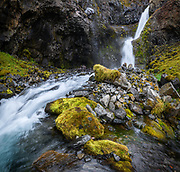 Stekkjarhvammsfoss waterfall is in Sydri-Tungua river in North-Iceland.