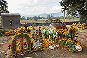 Marigold flowers decorate graves during the Day of the Dead festival November 2, 2017 in Ihuatzio, Michoacan, Mexico.  The festival has been celebrated since the Aztec empire celebrates ancestors and deceased loved ones.