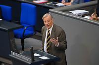 DEU, Deutschland, Germany, Berlin, 31.01.2019: Armin-Paulus Hampel, Alternative für Deutschland (AfD), bei einer Rede während einer Plenarsitzung im Deutschen Bundestag.