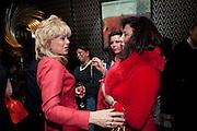 SALLY FARMILOE; DEIDA ACERO; , Liz Brewer GIVES A PARTY TO WELCOME 2010, Champagne <br /> Flemings Mayfair, 13 Half Moon Street, London. 5 January 2010