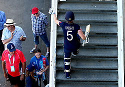 Heather Knight of England Women walks back up to the pavilion after completing her side's innings against South Africa Women - Mandatory by-line: Robbie Stephenson/JMP - 05/07/2017 - CRICKET - County Ground - Bristol, United Kingdom - England Women v South Africa Women - ICC Women's World Cup Group Stage