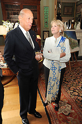 A party to promote the exclusive Puntacana Resort & Club - the Caribbean's Premier Golf & Beach Resort Destination, was held at Spencer House, London on 13th May 2010.<br /> <br /> Picture shows:- OSCAR DE LA RENTA and MRS RUPERT HAMBRO