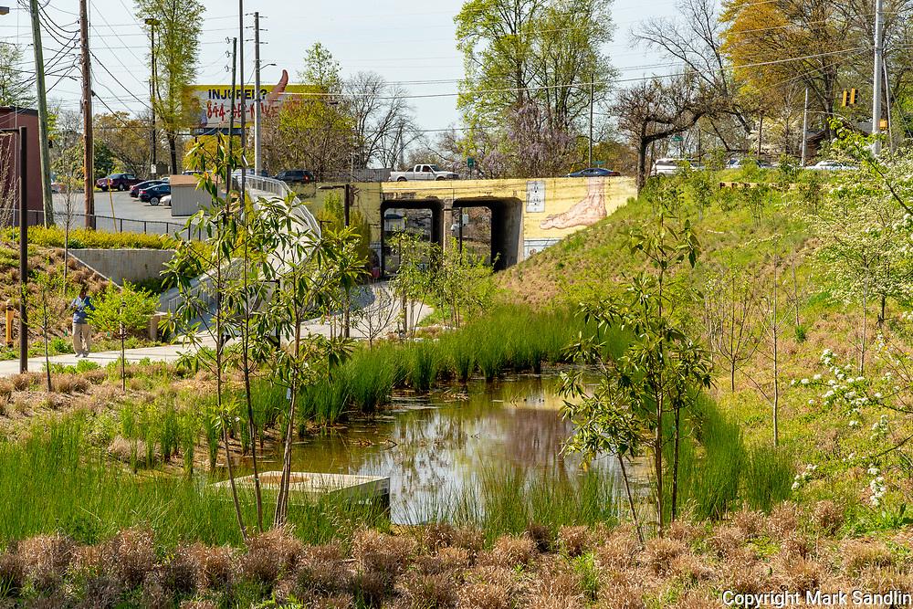 Atlanta Beltline access at Cascade Road. Westside Atlanta, near Gordon White Park