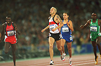 v.l  Wilson KIPKETER Denmark Silber, Nils SCHUMANN Gold, Hezekiel SEPENG 2853 SŸdafrika         <br /> Leichtatletik 800m Finale     Olympia 2000