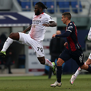 Franck Kessie (Milan) in action during the Serie A Tim match between Bologna FC 1909 and AC Milan at Stadio Renato Dall'Ara on January, 30 2021 in Bologna, Italy.