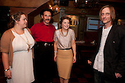 CHARLOTTE MILLS; MARK RYLANCE; AIMEE-FFION EDWARDS; MACKENZIE CROOK, Opening in the West end of the Royal Court's Jerusalem after a run on Broadway..<br /> WAXY O CONNORS, 14-16 RUPERT STREET, LONDON . 17 October 2011.  <br /> <br />  , -DO NOT ARCHIVE-© Copyright Photograph by Dafydd Jones. 248 Clapham Rd. London SW9 0PZ. Tel 0207 820 0771. www.dafjones.com.