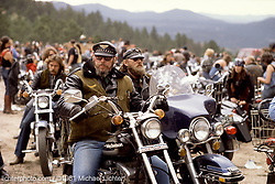 Hell on Wheels,.2-Wheelers Steak Fry near Kittredge, CO. 1981<br /> <br /> Limited Edition Print from an edition of 50. Photo ©1981 Michael Lichter.