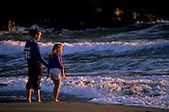 Sisters at Trinidad Beach, Trinidad, Humboldt County, CALIFORNIA
