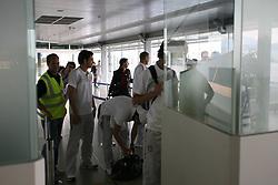 25.05.2010, Airport Salzburg, Salzburg, AUT, WM Vorbereitung, Serbien Ankunft im Bild Passkontrolle, Nationalteam Serbien, EXPA Pictures © 2010, PhotoCredit EXPA R. Hackl / SPORTIDA PHOTO AGENCY