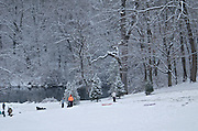 Winter Snow, Berks Co., PA Scene, Sledding at Gring's Mill