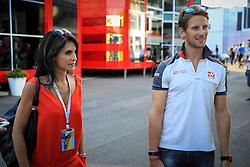 August 28, 2016 - Spa Francorchamps, Belgique - Spa  27/08/2016 GP F1 Belgique/Samedi/Ambiance/.Grosjean N°8 Haas et sa femme (Credit Image: © Panoramic via ZUMA Press)