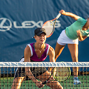 August 20, 2016, New Haven, Connecticut: <br /> Veronica Corning and Meghan Kelley in action during a US Open National Playoffs match at the 2016 Connecticut Open at the Yale University Tennis Center on Saturday, August  20, 2016 in New Haven, Connecticut. <br /> (Photo by Billie Weiss/Connecticut Open)