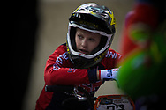 #32 (CRAIN Brooke) USA at the 2014 UCI BMX Supercross World Cup in Manchester.