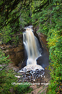 64745-00308 Miner's Falls in fall, Pictured Rocks National Lakeshore Alger Co. MI