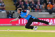 Ed Barnard of Worcestershire stops with an acrobatic dive during the Vitality T20 Finals Day Semi Final 2018 match between Worcestershire Rapids and Lancashire Lightning at Edgbaston, Birmingham, United Kingdom on 15 September 2018.