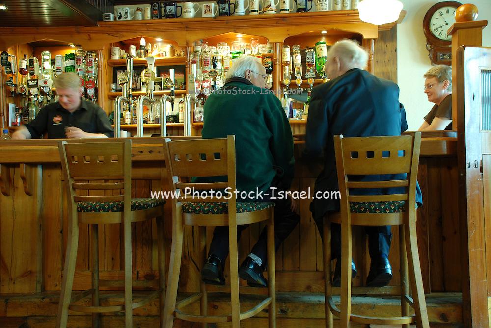 UK, Northern Ireland, County Antrim, Portrush Interior of a pub