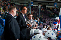 PENTICTON, CANADA - SEPTEMBER 9:  The Edmonton Oilers on September 9, 2017 at the South Okanagan Event Centre in Penticton, British Columbia, Canada.  (Photo by Marissa Baecker/Shoot the Breeze)  *** Local Caption ***