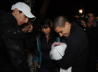 20091210: LISBON, PORTUGAL - SL Benfica Christmas Party at Victor Hugo Cardinali Circus. In picture: Angel Di Maria, Maxi Pereira with his wife and newborn child. PHOTO: Alvaro Isidoro/CITYFILES