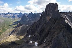 Aerial views of Ogilvie Mountains and Tombstone Park, Yukon