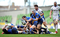 Isaac Boss of Leinster passes the ball - Photo mandatory by-line: Patrick Khachfe/JMP - Mobile: 07966 386802 04/04/2015 - SPORT - RUGBY UNION - Dublin - Aviva Stadium - Leinster Rugby v Bath Rugby - European Rugby Champions Cup