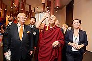 HHDL in European Parliament, on the left Mr Elmar Brok, Chairman of Comitee on Foreign Affairs European Parliament's