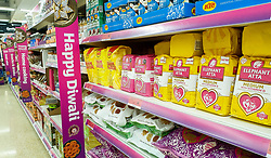 © Licensed to London News Pictures. 09/10/2020. London, UK. Sainsbury's stock for Diwali. This year Diwali falls on Saturday, 14 November. Diwali is the five-day festival of lights, celebrated by millions of Hindus, Sikhs and Jains across the world. It's a a festival of new beginnings and the triumph of good over evil, and light over darkness. Photo credit: Dinendra Haria/LNP