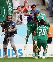 1:1 Jubel Saudi Arabien<br /> Fussball WM 2006 Tunesien - Saudi-Arabien<br /> Tunisia - Saudia-Arabia<br /> <br />  Norway only