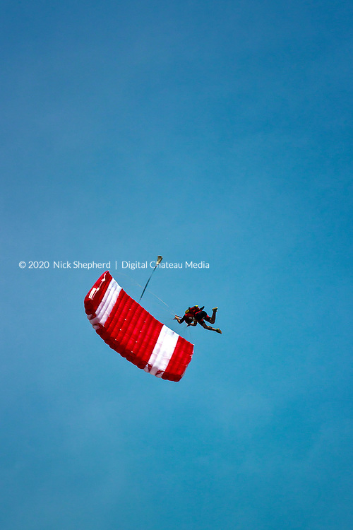 Sky Diver falling out of the sky