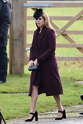 Princess Beatrice, leaves after attending the morning church service at St Mary Magdalene Church in Sandringham, Norfolk.