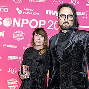 NLD/Amsterdam/201702013- Edison Pop Awards 2017, Blaudzun en partner .....