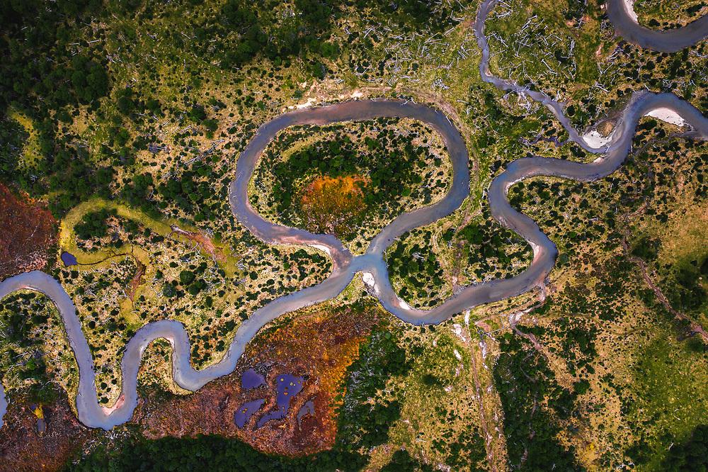 Nerrow river at Tierra del Fuego, Argentina