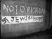 1960 - Anti -Jewish signs in Dublin