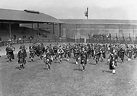 H2477<br /> Opening of Tailteann Games. Massed Band Parade. 1932 (Part of the Independent Newspapers Ireland/NLI Collection)