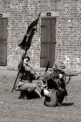 4./ Kompanie 1 Battalion Großdeutschland capture the Soviet Standard at Fort Paull Bank holiday Weekend<br /> <br />    07 May 2018 <br />   Copyright Paul David Drabble<br />   www.pauldaviddrabble.co.uk