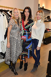 Left to right, CAROLINE FLEMING, STEPHANIE ALAMEIDA and CAROLINE STANBURY at the Salt Store VIP Shopping event at 77 Eliabeth Street, London on 2nd December 2015.