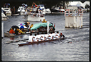 Henley, Great Britain, Radley School rowing, past the Stewards Enclosure, 1988 Henley Royal Regatta, Henley Reach, River Thames, Annual Event. [Mandatory credit: Peter Spurrier/Intersport Images]