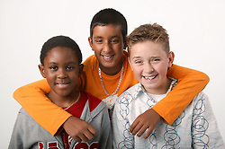 Group portrait of three young boys,